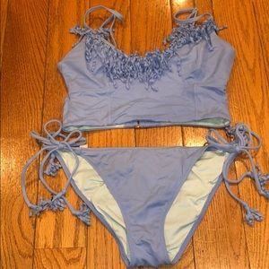 VS Fringe Periwinkle Blue Bikini!